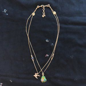 Lucky Brand Two in One Friendship Bird Necklace